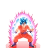 Kép 1/3 - Banpresto Dragon Ball Super Choshingiden SSGSS Kaioken Goku Szobor Figura Csomagolás Nélkül, Vitrinben Tartott