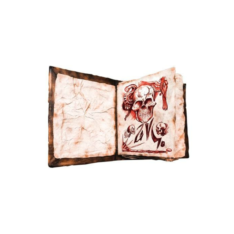 Előrendelés 2022 Január Evil Dead 2 Replica 1/1 Book of the Dead Necronomicon V2 Replika Új, Bontatlan