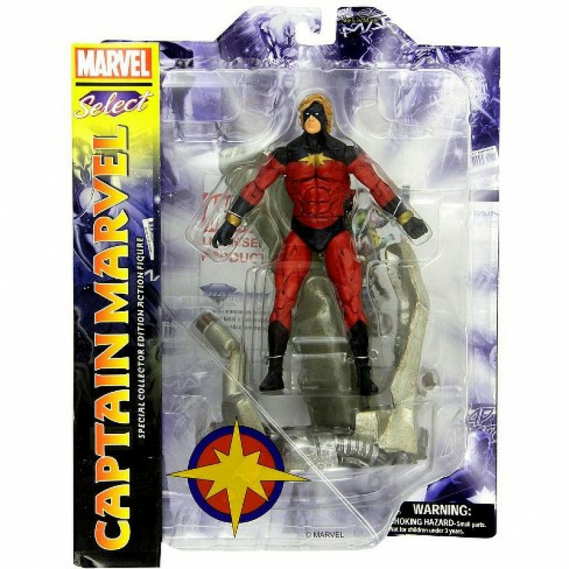 Marvel Select Captain Marvel Figura 18 cm Új, Bontatlan