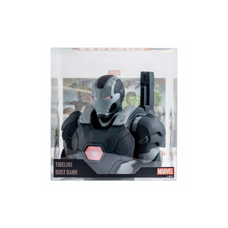 Marvel War Machine Hadigép Vasember Coin Bust / Persely! 20cm