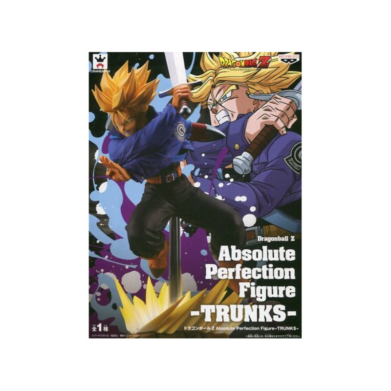 Banpresto Dragon Ball Absolute Perfection SSJ Trunks Szobor Figura Új, bontatlan