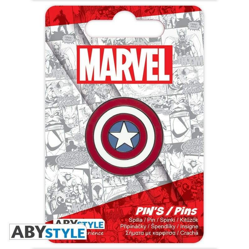 Marvel Captain America Amerika Kapitány Pajzs Kitűző Új, Bontatlan
